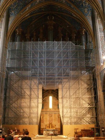 Les travaux sur le grand-orgue de la Cathédrale