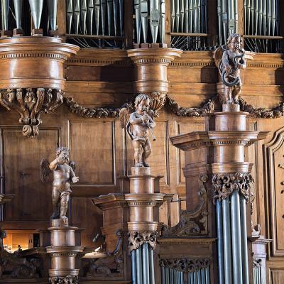 Concert quatuor de trombones et orgue.